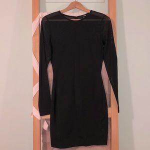 Wilfred free little black dress with mesh